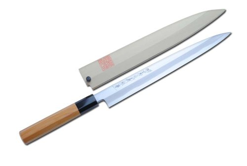 yoshihiro blue steel hongasumi yanagi sashimi chef knife 10 5 270mmyew handle made in japan. Black Bedroom Furniture Sets. Home Design Ideas
